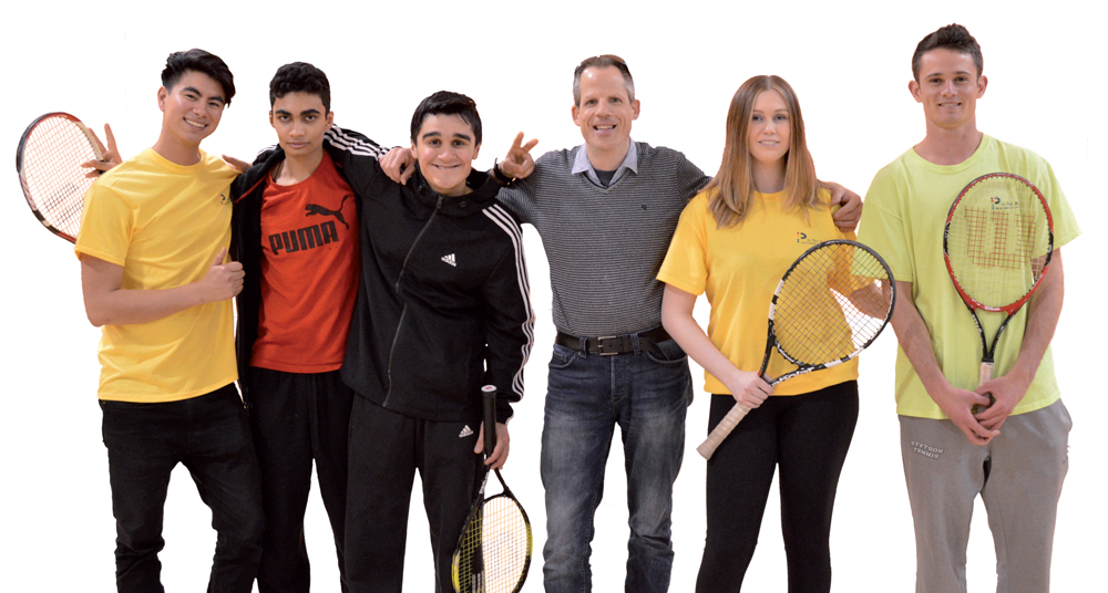 small group of tennis players