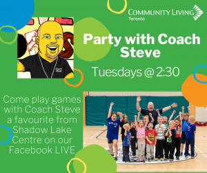 Tune in for Coach Steve's Sill magic show @cltoronto Facebook LIVE