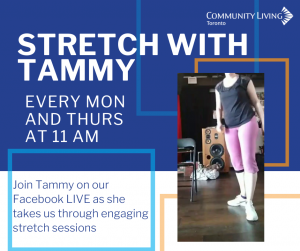 Stretch With Tammy @CLToronto Facebook Live event